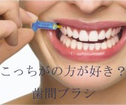 歯間ブラシ使用の勧め。